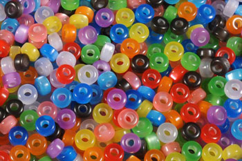Perle plast 4x8mm ass. f.ca. 27g Ø:3mm