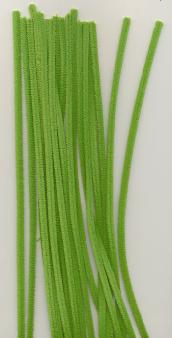 Chenille 6mm x 30cm lime