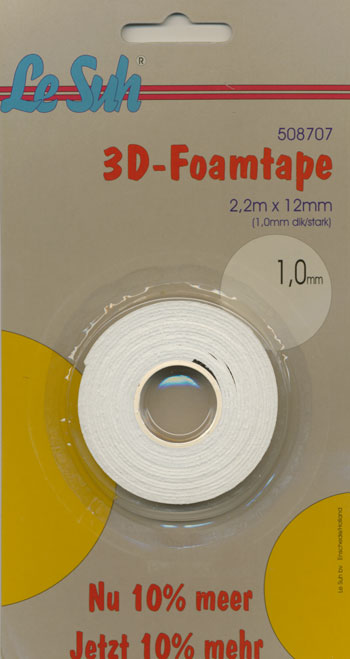 Tape foam/skum 1,0mm x 2,2meter LESUH
