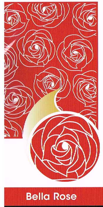 Embossing folder A4 Bella Rose