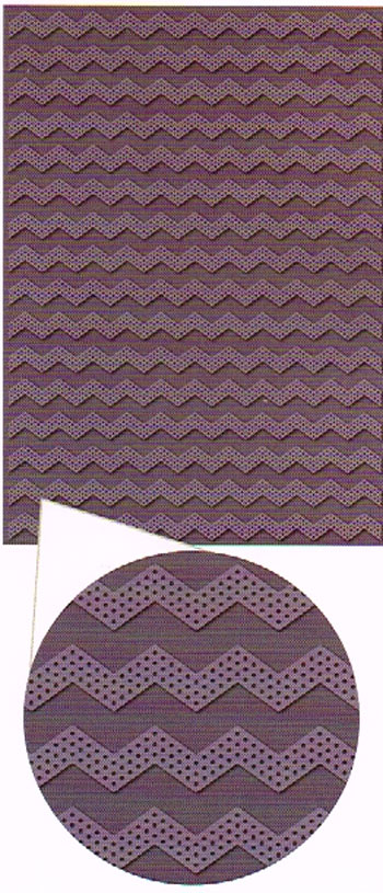 Embossing folder A4 Dotted Chevron