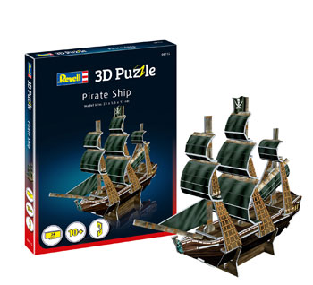 3D puzzle Pirate Ship 23x5,5x17cm