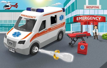 Junior Kit ambulance skala 1/20