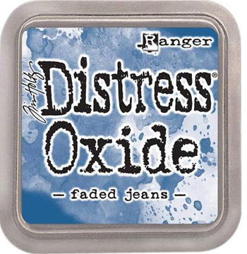 Stempel pude Distress Oxide Faded Jeans