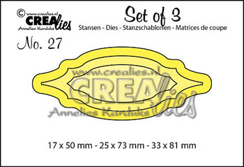 Dies Crealies Set of 3 27