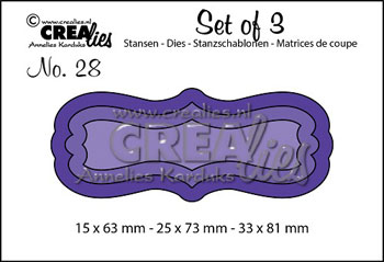 Dies Crealies Set of 3 28