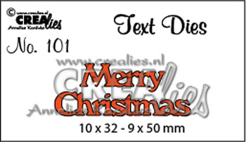Dies Crealies Text Die 101 Merry Christm
