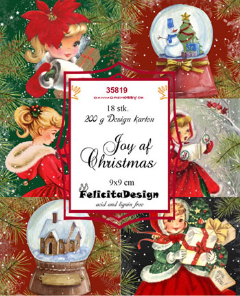 Toppers 9x9cm 18stk 'Joy of Christmas'