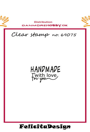 Stempel 'Handmade with love for you..'