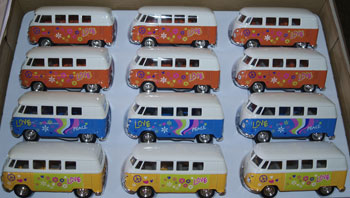 VW bus Flower power 12 stk. 1:38